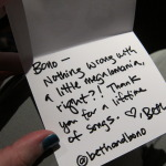 My thank-you note to Bono.